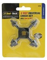 4-Way Chuck Key 6mm to 13mm