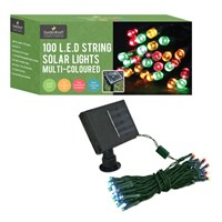 100 LED Solar String Lights - Multicolour