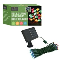 50 LED Solar Lights Multi-Coloured