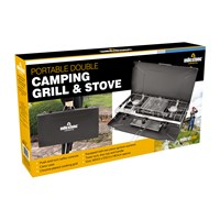 4.5kW Double Burner Gas Stove & Grill in Case