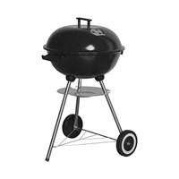 "17"" Enamel Kettle BBQ Grill With Lid"