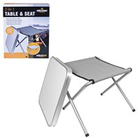 2-In-1 Camping Stool Table