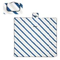 Fleece Picnic Blanket 200 x 200cm - Blue & Grey