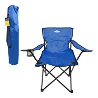 Folding Leisure Chair With Cup Holder - Blue