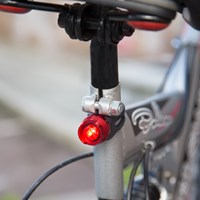 Set of 2 Aluminium LED Bullet Bicycle Light