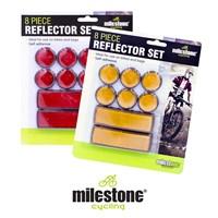 8pc Adhesive Reflector Set