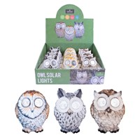 13cm Solar Owl LED Light