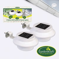 2pk LED Gutter & Fence Solar Light