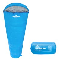 Mummy Sleeping Bag - Blue - Single - 2 Seasons