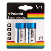 2pk C Polaroid Alkaline Battery