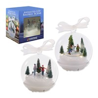 3 LED Animated Bauble Scenes -2 Assorted Designs