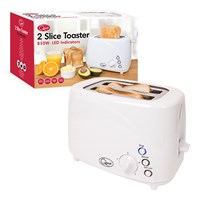 850W 2-Slice LED Buttons Toaster - White