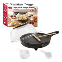 2-in-1 Popcorn & Crepe Maker
