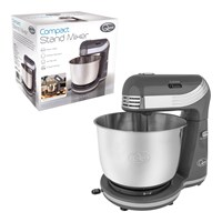 Compact Stand Mixer - 6 Speed -  Grey