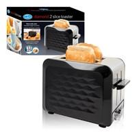 S/S 2-Slice Diamond Toaster - Black