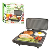 Nutri-Q Fold-out Grill & Griddle - Matt Black