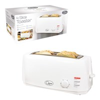 4 Slice Cool Touch Toaster - White