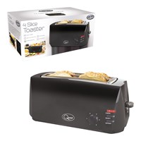4 Slice Cool Touch Toaster - Black