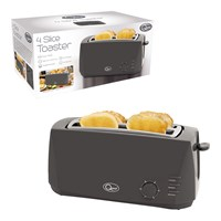 4 Slice Cool Touch Toaster - Grey