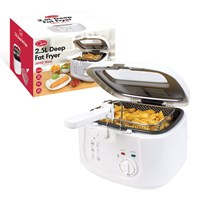 2.5L Deep Fryer With Removable Lid - White