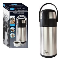3 Litre Stainless Steel Hot & Cold Drink Dispenser