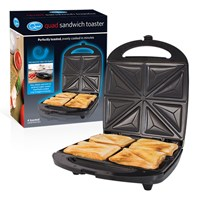 4 Portion Sandwich Toaster - Stainless Steel