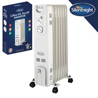 7Fin 1.5Kw Oil Filled Radiator - Silent Night