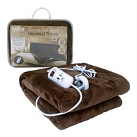 Bauer Luxury Soft Touch Heated Throw- Brown