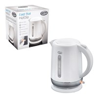 1.5L Fast Boil Kettle White and Silver