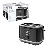 2 Slice Toaster Black and Silver