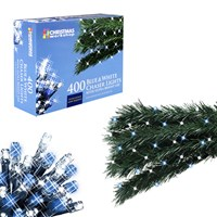 400 LED Chaser Lights - Blue & White