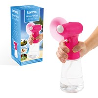 Handheld Water Mist Spray Fan - Pink