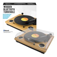 Bluetooth Turntable with Built-In Stereo Speakers