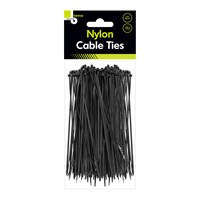 100pcs Black Cable Ties - 200mm x 2.5mm