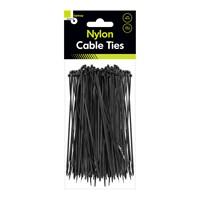 100pcs Black Cable Ties - 200mm x 2.5mm