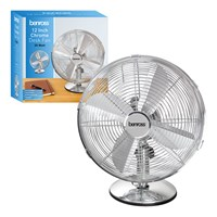 "12"" Chrome Desk Fan"