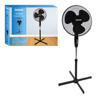 "16"" Oscillating Stand Fan - Black"