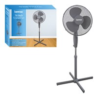 "16"" Oscillating Stand Fan - Grey"