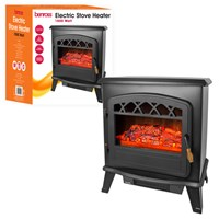 Cast Iron Effect Stove Fireplace - Black