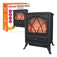 Cast Iron Effect Fire - Black (Brown Box)