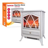 Cast Iron Effect Electric Stove (Brown Box)