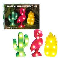 Set Of 3 Mini Marquee Lights