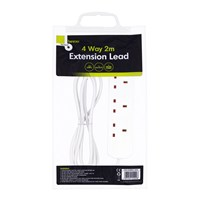 4 Way 2M Extension Lead - 13A
