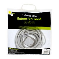 1 Way 10M Extension Lead - 13A