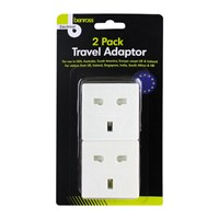 2pc Travel Adaptor Plugs