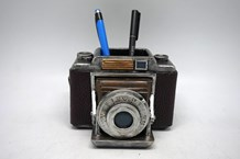 Vintage Camera Stationery Holder