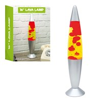 "16"" Lava Lamp-Yellow Liquid & Red Wax"
