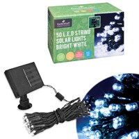 50 LED Solar Lights - Bright White