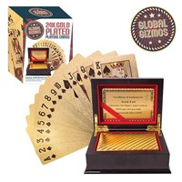 Gold Plated Playing Cards With Gift Box