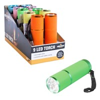 9 LED Lumi Glow Flashlight Torch